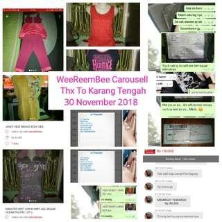 Trusted /Testimony Thanx To Karang Tengah 30 November 2018