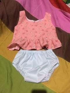 Crop Top Pastel Pink with Bloomer Set