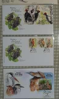 5 First Day Covers (FDC) - thematic collection on Birds