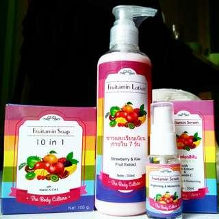 Fruitamin soap & lotion & serum