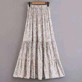 Floral Maxi Skirt Bohemian