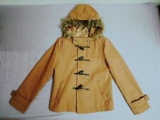 🚚 日系毛呢排扣外套