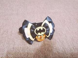 🚚 蝙蝠俠 蝴蝶結鈴鐺 寵物項圈 安全扣環 貓咪小型犬適用