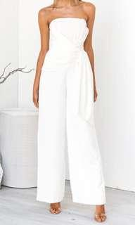 White jumpsuit, new with tags