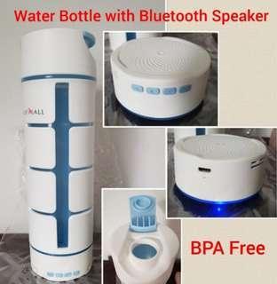 Bluetooth Speaker Water Bottle (BPA free) - Nexovo iWater