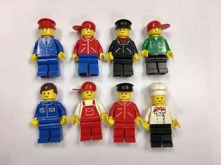 八九十年代絕版樂高人仔。價錢是全部計。經典各行業人仔lego minifigure