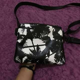 Tas fashion motif daun import tas selempang cute