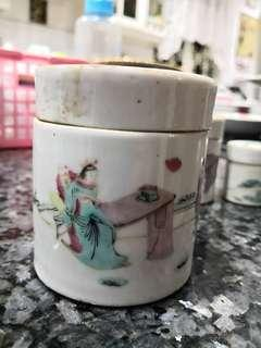 Antique Chinese Porcelain Covered Jars