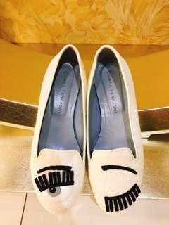 CHIARA FERRAGNI亮片白色平底鞋(只穿一次)