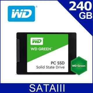 【前衛】WD 綠標 SSD 240GB 2.5吋固態硬碟 PC SSD 240G