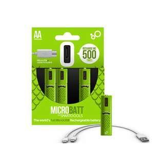 環保、超耐用AA AAA USB充電電池