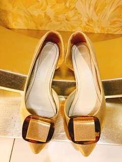 金色時尚女鞋
