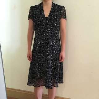 Vintage black polka dot dress