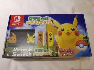 Nintendo Switch Pikachu. Brand new Korea edition