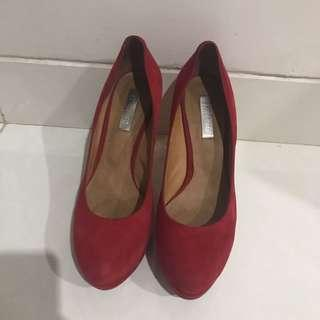 Red Pump Shoes Staccato