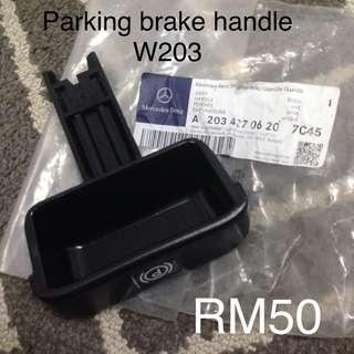 Merc c200k w203 parking brake handle