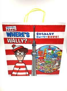 [日本限定]Where's wally in Tokyo skytree Paper Bag(東京晴空塔展場非賣品)
