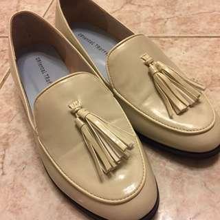 Oriental traffic 平底鞋 米黃色 39號 全新