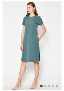BN Love & Bravery Cyrus Curved Hem Dress Green