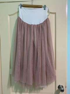 孕婦粉紅色紗裙