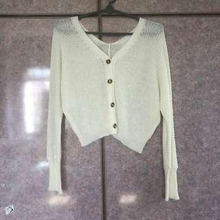 BN Cream White Knitted Cardigan