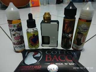 Vandyvape Pulse + Liquid 4 + Cotton bacon + Battre 4