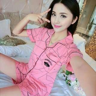 Pj shortpants manoimei pink 78.000 Bahan kaos import allsize fit L b st seller