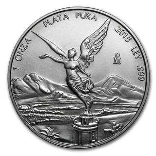 25pcs x 2015 Silver Libertad 999 Coins