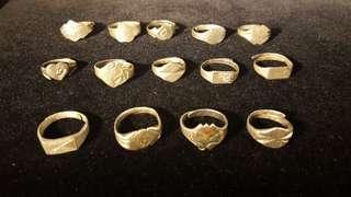 民國銀介子 (可申缩) | Silver ring republic period, (flexible opening)