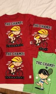 Bundle Kids T-shirt The Champ (4pcs)