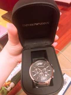 阿曼尼Armani 三眼錶