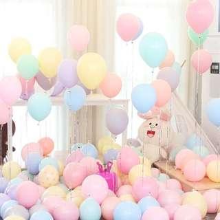 馬卡龍糖果色混色氣球 $0.5 個 party 生日 birthday wedding valentine day 情人節 百日宴 婚宴 婚禮 攝影用