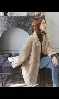 羊毛厚身長外套