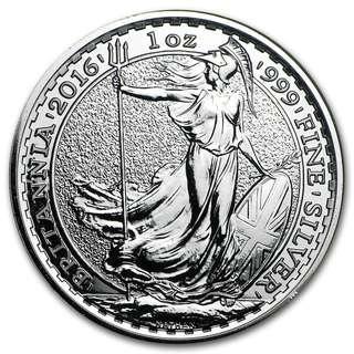 25pcs x 2016 Silver Britannia 999 Coins