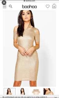 🚚 BNWT Boohoo ribbed dress