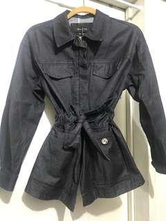 Massimo Dutti Dark Denim Trench Jacket