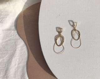 🚚 #1212 Minimalist Gold Layered Earrings