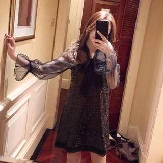 🚚 Party night dress sparkling slim black
