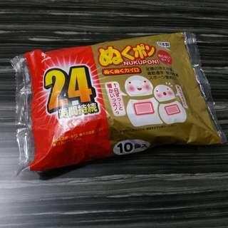日本製小久保雪人暖貼 暖包 一包十個 hand warmer