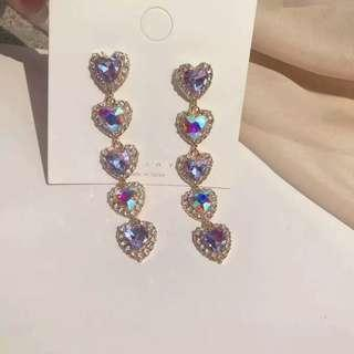 🚚 #1212 Holographic Heart Earrings S925 Silver