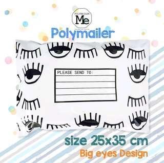 Poly mailer design/ Big eyes
