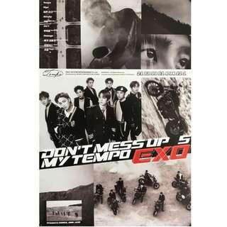 [WTS] [WANT TO SELL] EXO DON'T MESS UP MY TEMPO POSTERS
