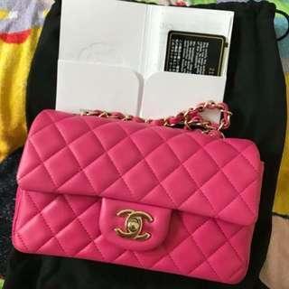 Chanel 💕20cm hotpink Classic bag