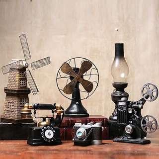 歐式美式懷舊復古小擺件客廳臥室書房工藝品