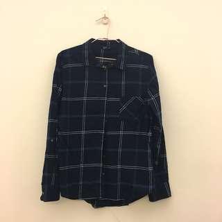 🚚 NET 深藍襯衫外套