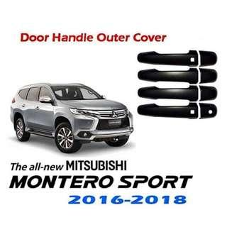 Mitsubishi Montero Sport Outer Door Handle Cover Matte Black 2016-2018