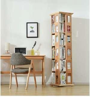 櫸木實木書櫃 旋轉書櫃 五層/六層書櫃