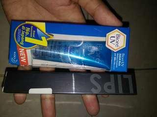 paket 8, biore sunscreen 15gr + focallure lipcream, take all 60k nett(baru)