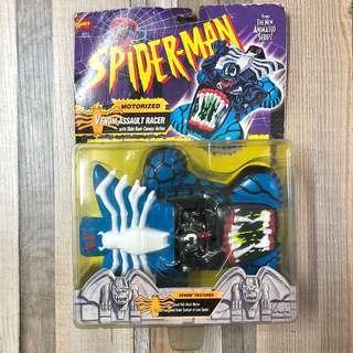 Venom Assault Racer - Motorized 毒魔 回力車 with Slide Back Canopy Action - Spider-man 系列 1985年 TOYBIZ 出品
