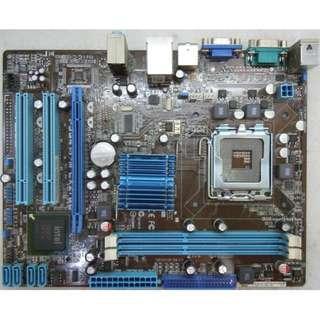 🚚 華碩P5G41T-M LX2-GB主機板、775腳位、PCI-E、SATA、內建顯、音、網、DDR3 RAM、附擋板
